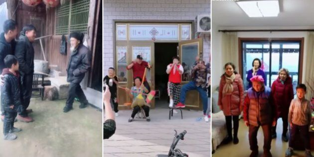 TikTok video clips of four generations of Chinese families are winning the internet's