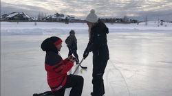 Uber-Canadian Proposal Unfolds On Rink Where She Learned To