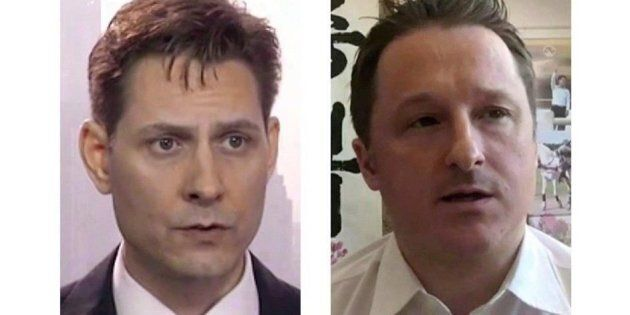 Michael Kovrig (left) and Michael Spavor, the two Canadians detained in China, are shown in these 2018...