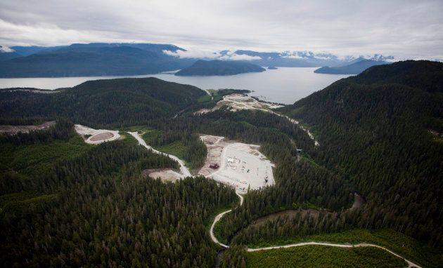 Aerial photograph taken near Kitimat, B.C. on June 6,