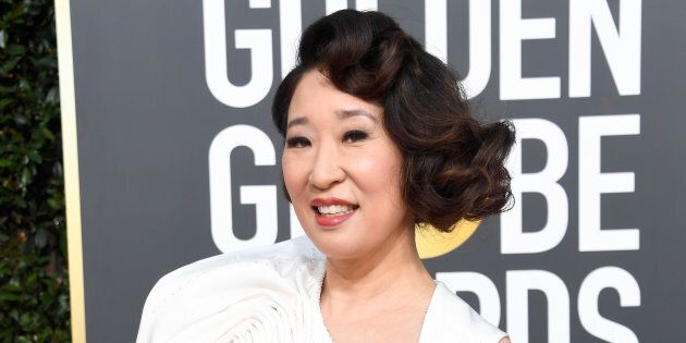 Host Sandra Oh attends the 76th Golden Globe Awards on Jan. 6, 2019 in Beverly Hills,