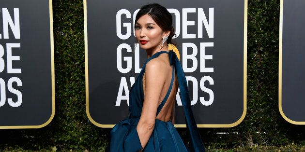 Gemma Chan arrives at the 76th Golden Globe Awards in Beverly Hills, Calif. on Jan. 6,