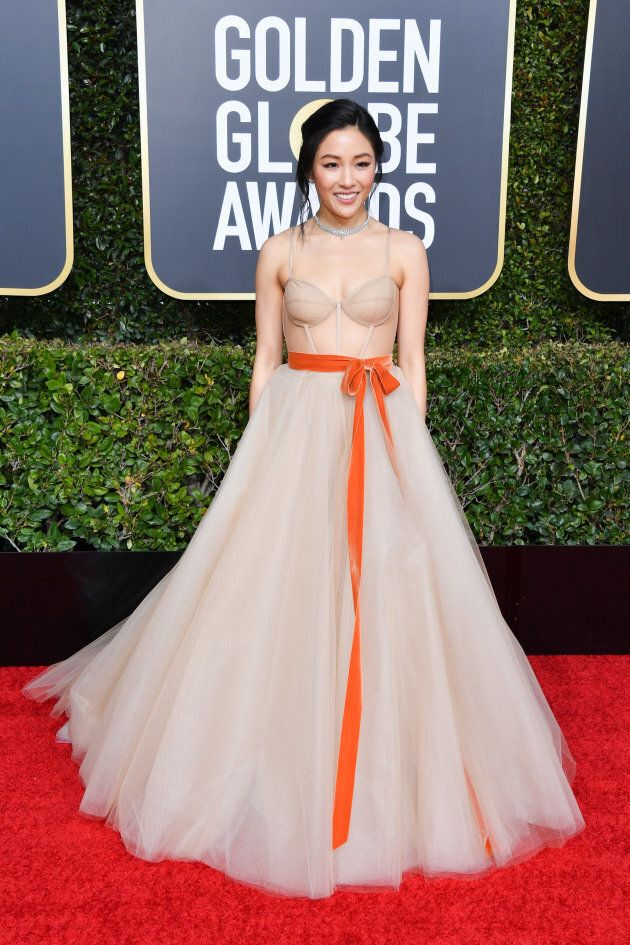 Constance Wu chose to wear Asian-American designer Vera