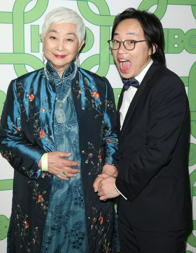 Lisa Lu and Jimmy O. Yang at HBO's Official Golden Globe Awards After Party.