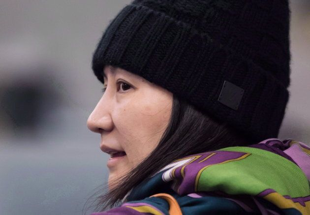 Huawei CFO Meng Wanzhou arrives at a parole office in Vancouver, on Dec. 12,