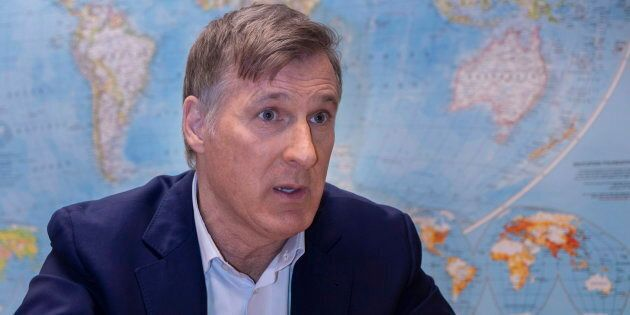 People's Party leader Maxime Bernier is seen during an interview with The Canaian Press in Montreal on...
