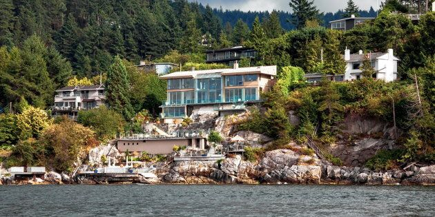 Luxury homes overlooking the water in West Vancouver, B.C. Sales of luxury properties declined sharply...
