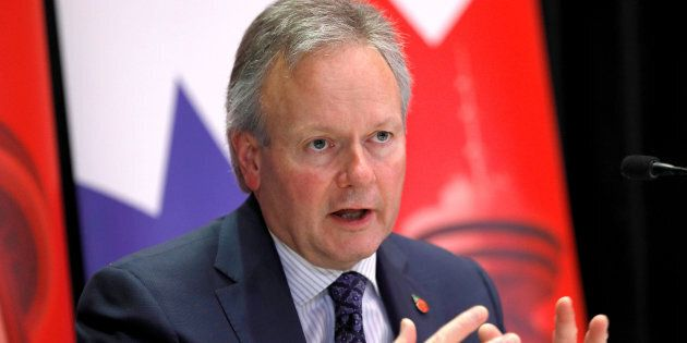 Bank of Canada governor Stephen Poloz answers questions during a press conference in London, U.K., Nov....
