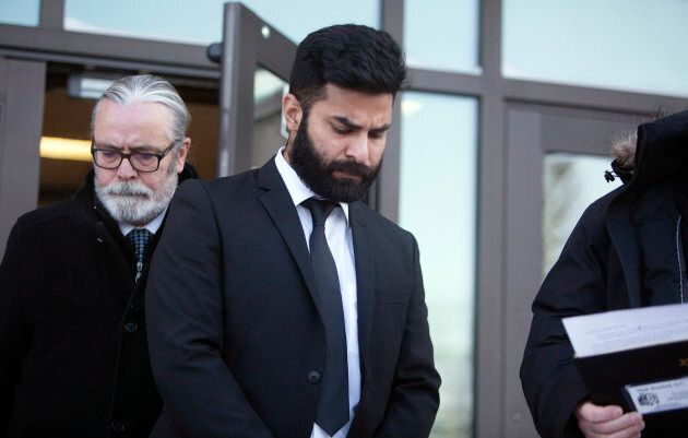 Jaskirat Singh Sidhu, the driver of the transport truck involved in the Humboldt Broncos bus crash, leaves...