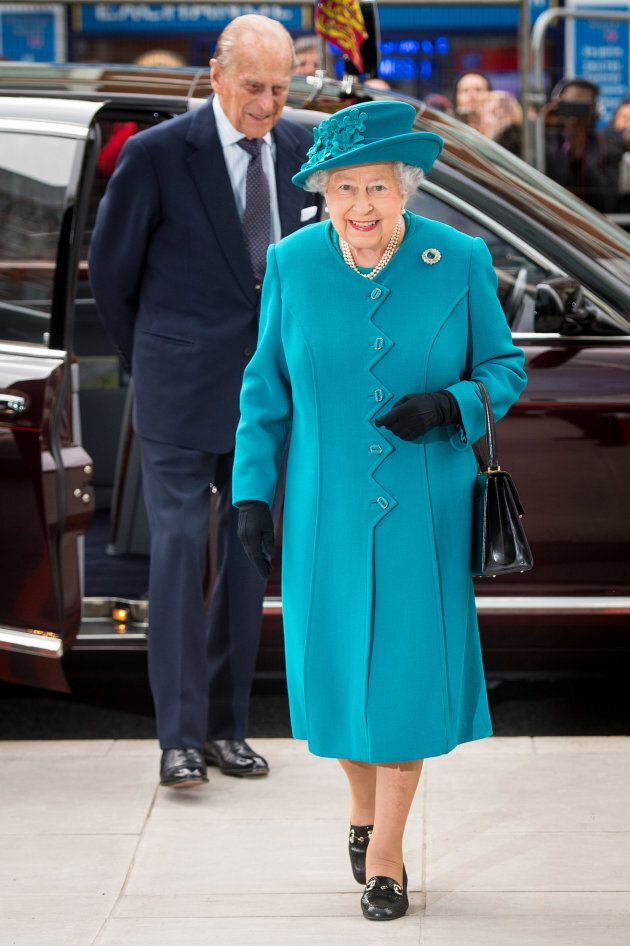 Queen Elizabeth and Prince Philip attend the official opening of the National Cyber Security Centre on...