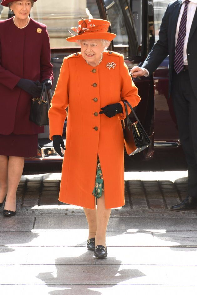 Queen Elizabeth II opens the new Burlington Wing on March 20,