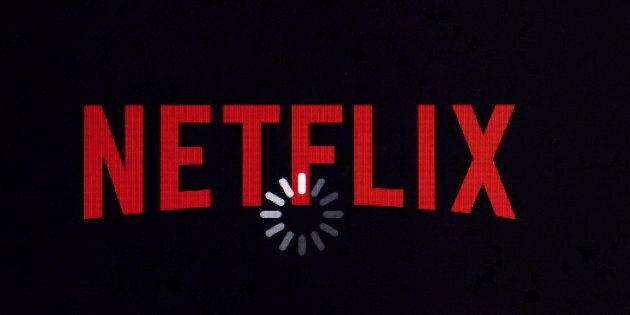 The Netflix logo on a tablet on Jan. 17, 2014. The streaming giant may be considering creating a production...