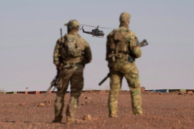 Canadian soldiers during a demonstration in Gao, Mali on Dec. 22,
