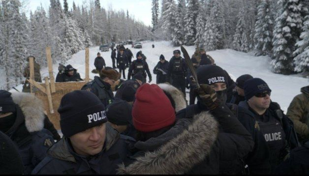 Protesters clashed with RCMP at the Gidumt'en territory checkpoint. Fourteen were