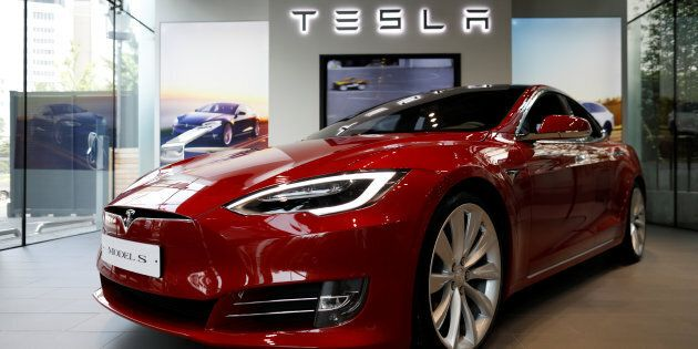 A Tesla Model S electric car at a dealership in Seoul, South Korea, July 6, 2017. Canada is well behind...