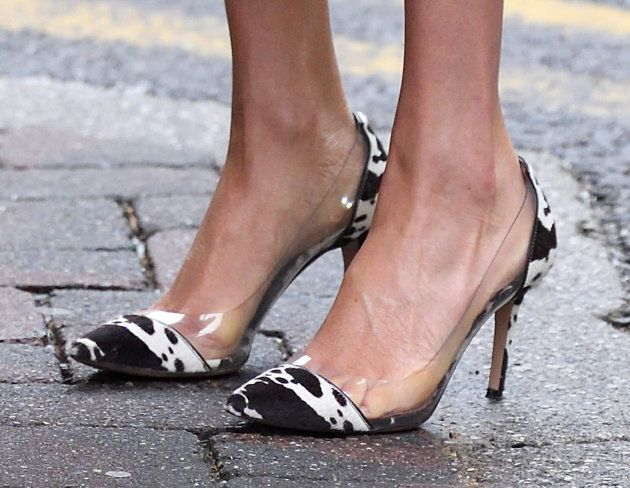 Meghan's cow-print shoes were certainly