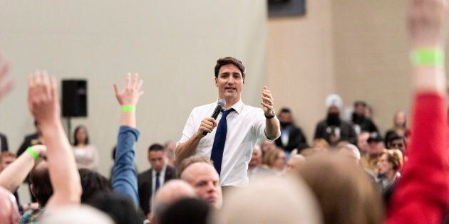 Prime Minister Justin Trudeau held the second of several cross-country town halls on Thursday in