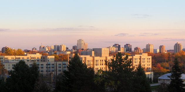 A panoramic view of the London, Ont., skyline. The city ranks 10th in Bank of Montreal's latest regional labour market report card.