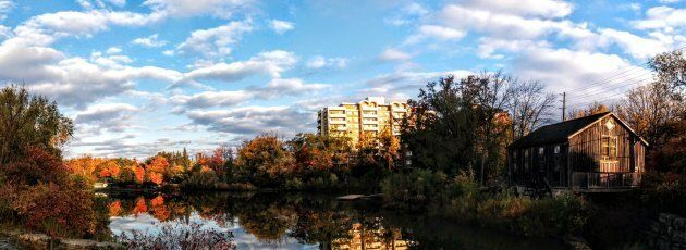 The view from the Uptown Loop Trail in Waterloo, Ont.