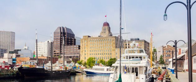 The harbourfront in Halifax,