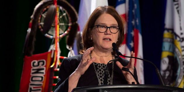Indigenous Services Minister Jane Philpott speaks at the Assembly of First Nations Special Chiefs meeting...