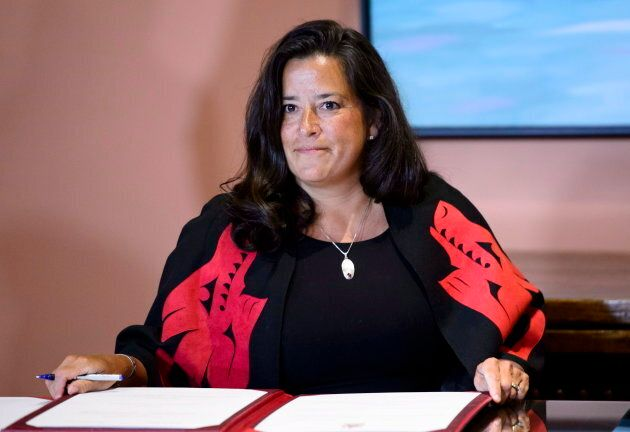 Veterans Affairs Minister Jody Wilson-Raybould attends a swearing in ceremony at Rideau Hall in Ottawa on Jan. 14, 2019.
