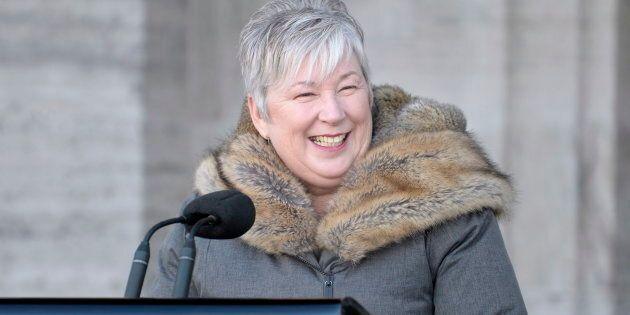 Minister of Rural Economic Development Bernadette Jordan addresses the media following a swearing in ceremony at Rideau Hall in Ottawa on Jan. 14, 2019.