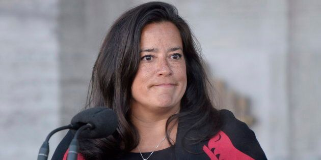 New Veterans Affairs Minister Jody Wilson-Raybould addresses the media following a swearing in ceremony...