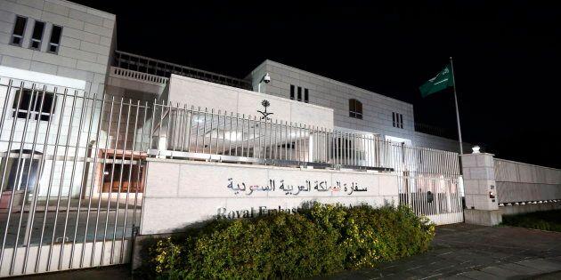 The Saudi Arabian Embassy is shown in Ottawa on Aug. 5,