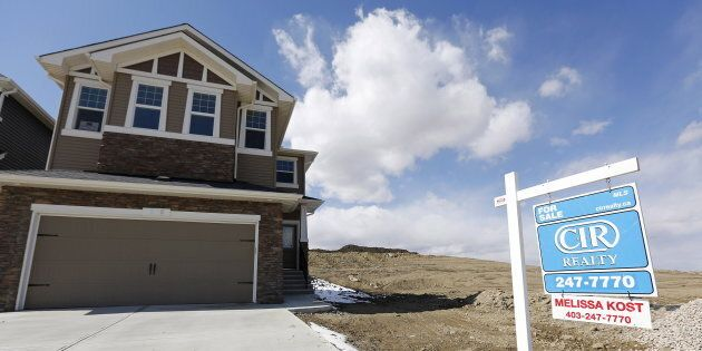 A newly built house for sale Calgary, April 7, 2015. Like most of Canada's largest cities, Calgary saw a decline in home prices in the fourth quarter of 2018.