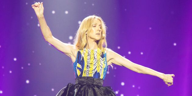 Céline Dion performs on the stage in concert at Cotai Strip Cotai Arena in Macau, China on June 29,