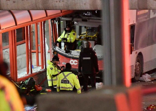 Police and first responders in Ottawa Jan. 11,