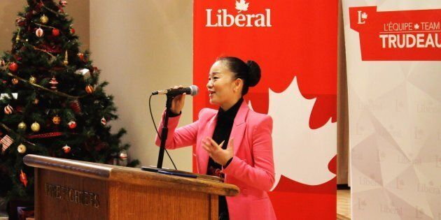 Former Liberal candidate Karen Wang is shown in a photo from Facebook.