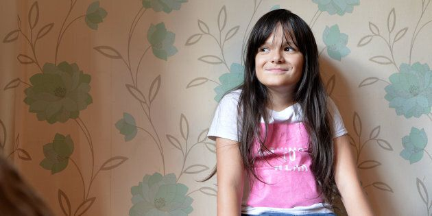 Paddy McGuire, a 10-year-old transgender girl, is pictured in her home in Leicester, England in