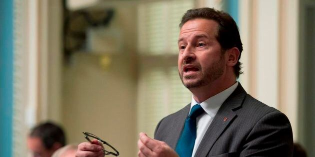 Quebec Environment Minister Yves Francois Blanchet responds to Opposition questions on Wednesday, November...