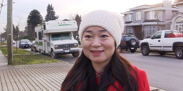 Former Burnaby South Liberal candidate Karen Wang speaks during an interview in Burnaby, B.C., on Jan....