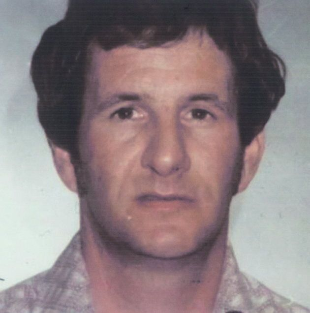 A photo of Garry Taylor Handlen is displayed during a news conference in Surrey, B.C., on Dec. 1,