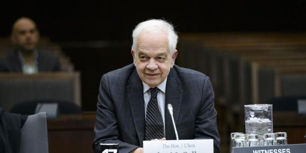 Canada's ambassador to China, John McCallum, waits to brief members of the Foreign Affairs committee...