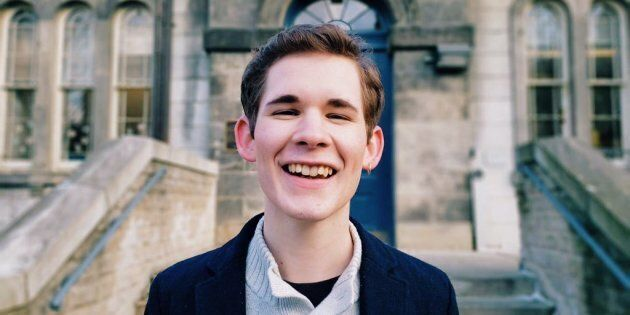 Tyler Riches, 18, is a University of Toronto student who benefitted from the province's free tuition...