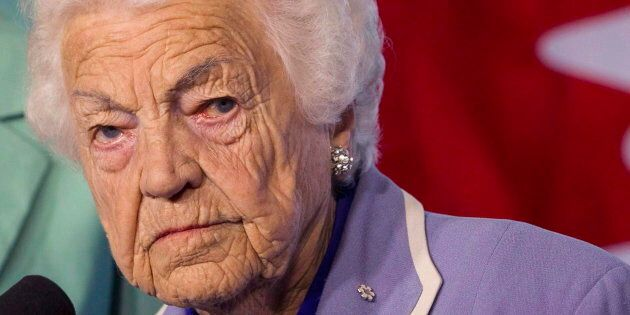 Hazel McCallion is shown in Mississauga, Ont. in a May 14, 2014 file photo. The 97-year-old was recently...