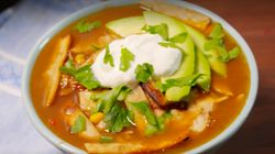 Top This Chicken Tortilla Soup With Avocado And Forget It's