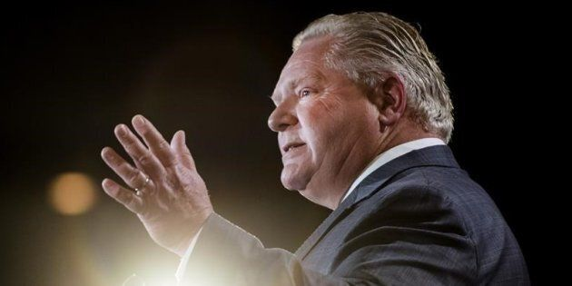 Ontario Premier Doug Ford speaks at the Economic Club of Canada in Toronto on Jan. 21,