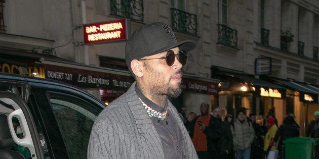 Rapper Chris Brown is seen on Jan. 17, 2019 in