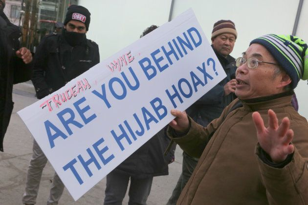 Asian Canadians protested in Toronto on Jan. 29, 2018, to demand apologies following the revelation that...