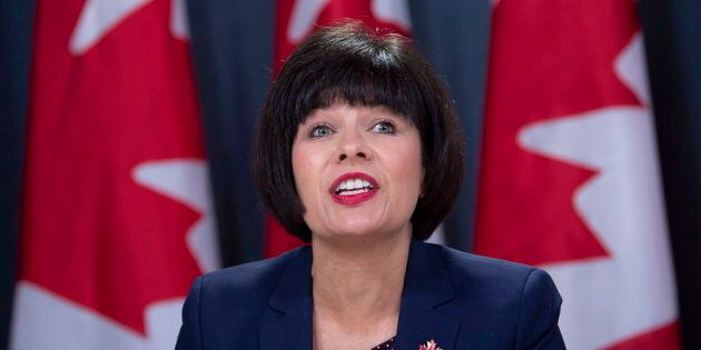 Health Minister Ginette Petitpas Taylor speaks during a news conference on legalized cannabis in Ottawa...