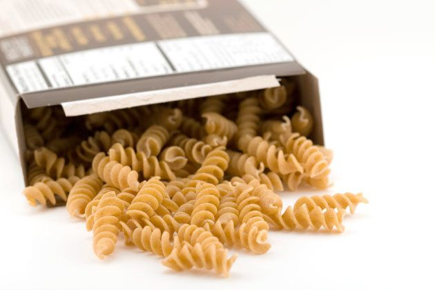 The new food guide recommends more whole grains, such as whole-grain pasta.