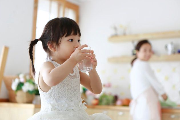 The new food guide recommends drinking more water.