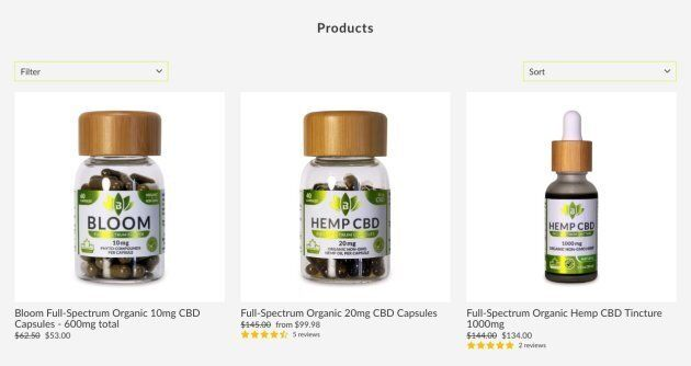 Bodhi Naturals offers a range of CBD, or cannabidiol, products on its website. (Photo: