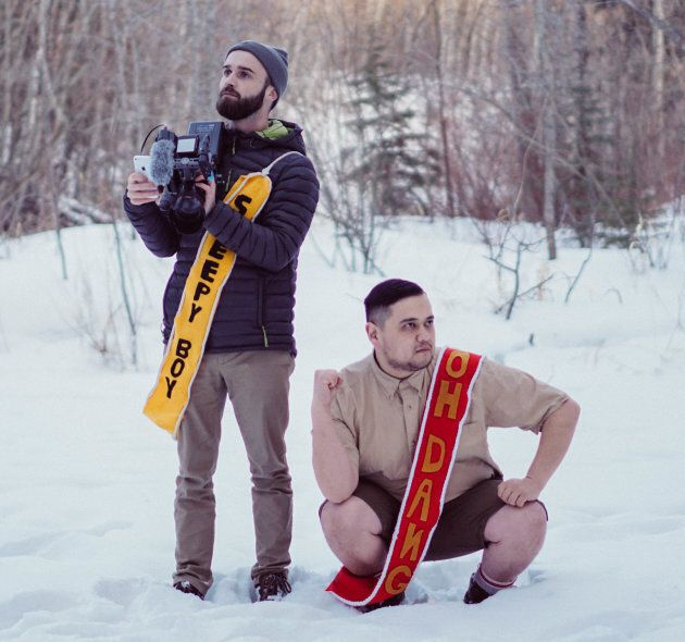 Stephen Robinson, left, and Gordie Lucius bring the laughs — and the sashes — in their new YouTube series...