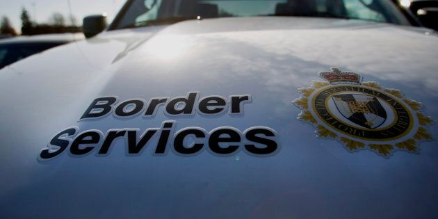 A Canadian Border Services vehicle stands outside of Vancouver International Airport (YVR) in Richmond,...